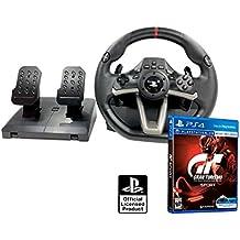 """Volante y pedales PS4 Licencia Original Playstation 4 RWA Apex + Gran turismo """"GT Sport"""""""