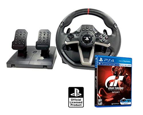 Volant et Pédales PS4 Originale sous Licence Playstation 4 RWA Apex + Gran Turismo GT Sport