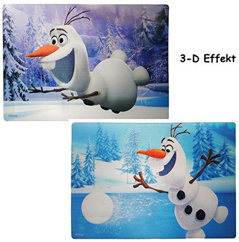 Disney Frozen Tischset - 1 Stück _ 3-D Effekt Unterlage