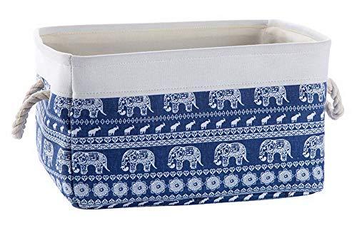 Cesta de Tela Snacks Toys Caja de Almacenamiento de desechos, Elefantes