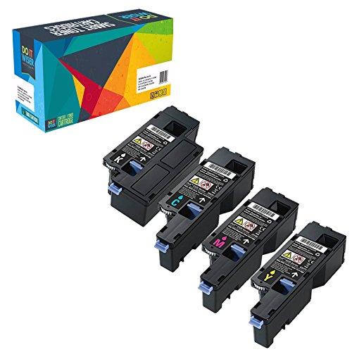 Do it Wiser ® 4 Kompatibel Toner für Dell E525w | 593-BBLN 593-BBLL 593-BBLZ 593-BBLV (Hohe Kapazität) (Teilenummer Original Dell)
