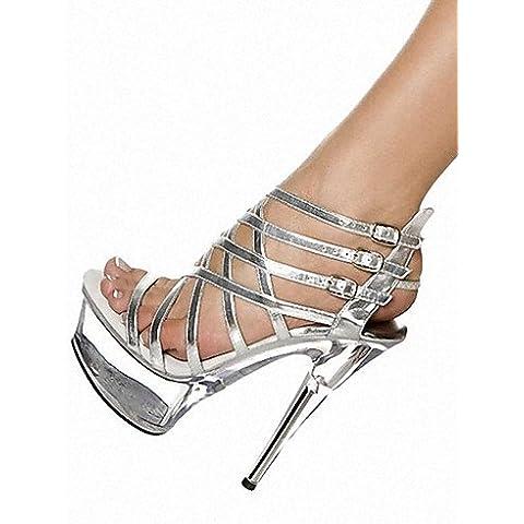 GGX/ Zapatos de mujer-Tacón Stiletto-Tacones / Plataforma / Gladiador-Tacones / Sandalias-Boda / Exterior / Casual / Fiesta y Noche-Semicuero- , black-us7.5 / eu38 / uk5.5 / cn38 , black-us7.5 / eu38 / uk5.5 / cn38