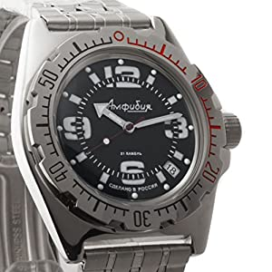 Vostok 2416de anfibios 110903Militar ruso reloj mecánico de Vostok Amphibian