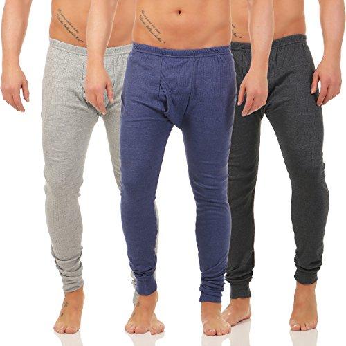 Herren Thermo Unterhose Pants mit Innenfleece warme Unterwäsche CL 4034 Blau