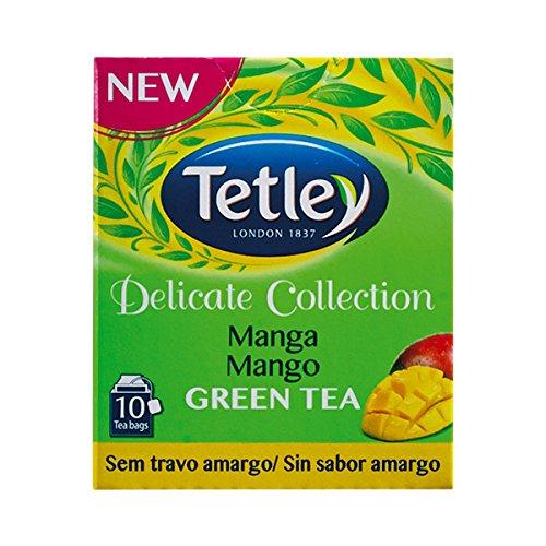 Tetley Delicate Collection GREEN TEA & MANGO (Tè verde e mango) busta tè confezione da 10 x 10 scatole