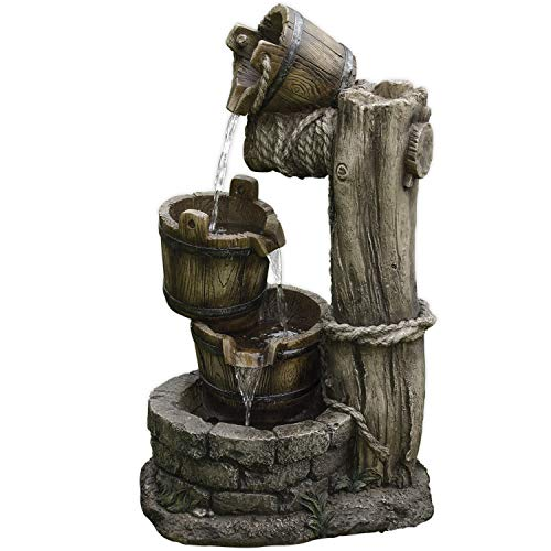 KÖHKO® Wasserspiel Halle 13006 Gartenbrunnen Springbrunnen Brunnen für Garten