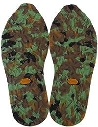 Full para hombre suelas de goma pegamento reparación de la bota de fútbol de grosor 4 mm diseño de camuflaje verde
