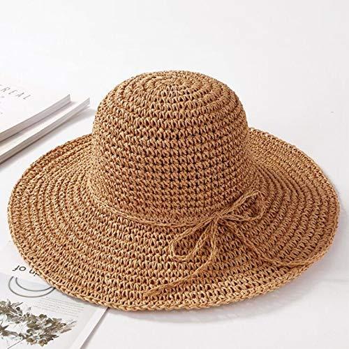 CHAZNG Breiter Krempe Floppy Falten Sonnenhut Sommer Hüte Für Frauen Tür Strohhut Frauen Strand Hut - Kathedrale Türen