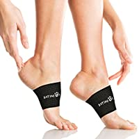 SATINIOR Arch Support, 2 Plantar Fasciitis Sleeves/Braces for Heel Spurs and Flat Feet, Stop Arch Pain, Relieve Pain in Feet