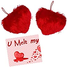 Maalpani Heart Shape Pillow Cushion Set - Valentine Gifts - Greeting Card - Proposed Day Gift