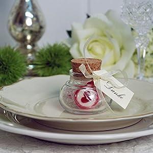 Bonbons mit Herz, 250g - Süße Überraschung für Verliebte, die Candybar zur Hochzeit oder Gastgeschenk zur Taufe