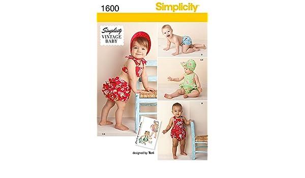 Simplicity Baby & Kleinkind Schnittmuster 1600 Vintage Stil ...