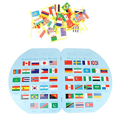 Hölzerne dreidimensionale Karten von 36 Ländern für die lernenden Kinder erkennen Flaggen-Weltkarte