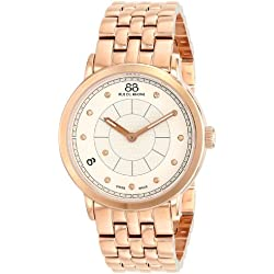 88 Rue du Rhone Women's 87WA120009 Rose Gold-Tone Stainless Steel Watch with Diamond Markers