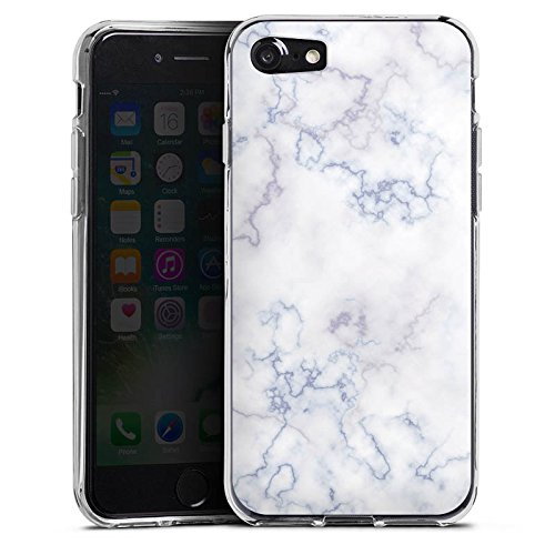 Apple iPhone X Silikon Hülle Case Schutzhülle Marmoriert Marble Marmor Look Silikon Case transparent