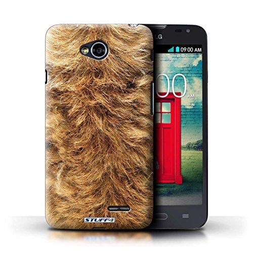 Kobalt® Imprimé Etui / Coque pour LG L70/D320 / Zèbre conception / Série Motif Fourrure Animale Chien