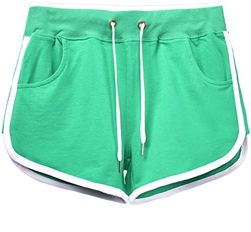 Ladies Retro Running Fitness Shorts. Breathable fabric - choice of colours