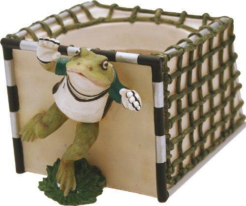 Cache-pot sportif grenouille gardien cm.14,7 H.