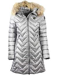 size 40 2a8a1 9d57e Piumini Lunghi - Blauer / Giacche e cappotti ... - Amazon.it