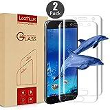 Leathlux [2-Unidades] Protector de Pantalla para Samsung Galaxy A5 2017 Screen Protector, [2-Pack] Anti-Golpes Cristal Vidrio Templado Premium Anti-Huella 3D Touch Tempered Glass para Galaxy A5 2017