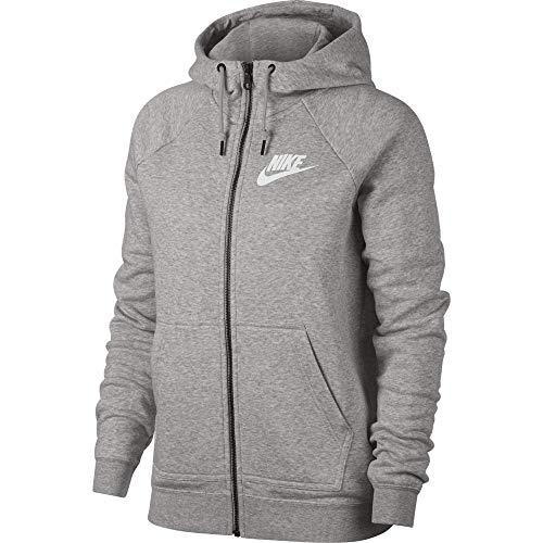 eec6f0e97c7 Nike W NSW Rally Hoodie FZ Sweatshirt, Mujer, Heather/Pale Grey/White