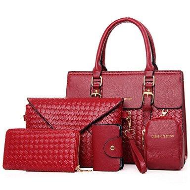 La donna pu formale Ufficio Outdoor & Carriera Set borsa,rosso Red