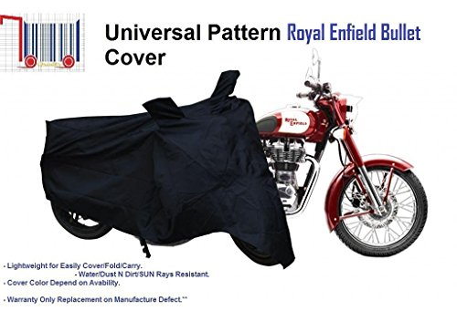 AllExtreme Premium Quality Bike Body Cover for Royal Enfiled, Universal Fitting for Bullet All Models, Royal Enfield, Avenger, Karizma, KTM, Royal Enfield Bullet Electra EFI, Royal Enfield Bullet Electra Standard (Black_Large)  available at amazon for Rs.325