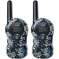 Caroger 8 Canales Walkie Talkies para Niños PMR446MHZ Radio bidireccional sin Licencia hasta 3300 Metros /2 Millas de Alcance Interfono de Mano Interfono Marino Camuflaje