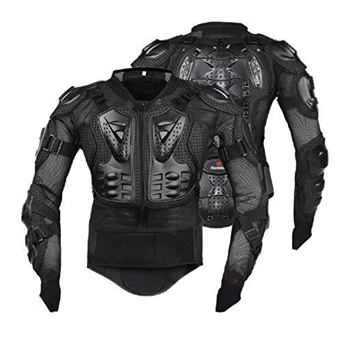 Gratydallks Motorradjacken Motorrad-Rüstung Racing Body Protector Jacke Motocross Motorrad-Schutzausrüstung + Nackenschutz B no Neck protection 4XL