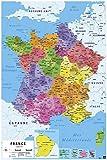 Grupo Erik Editores Carte de France nouvelles regions-poster,...