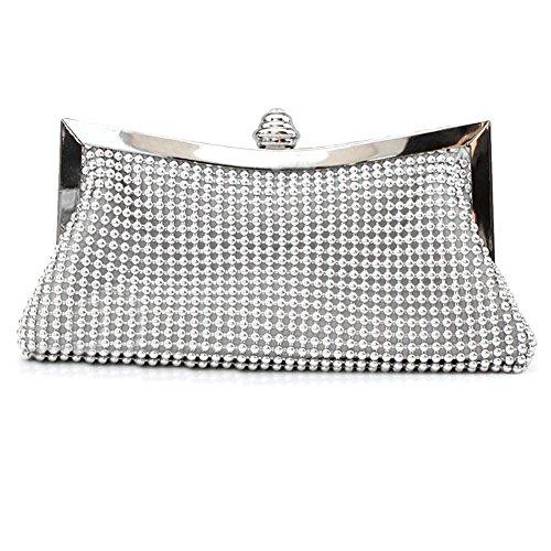 SSMK  Evening Bag, Damen Clutch Silber