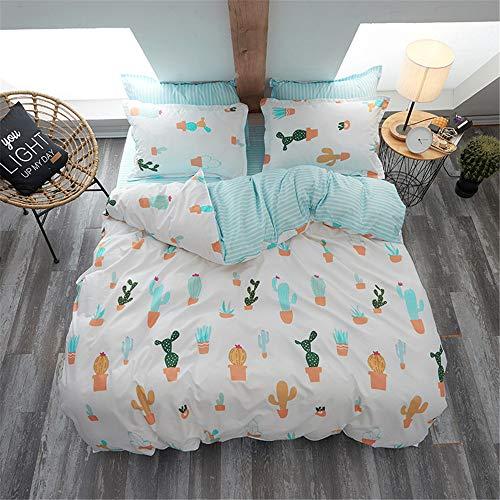 zug Bettwäsche Kinderbettwäsche aus weicher Baumwolle Single Twin Full Queen King Size B 150x210cm ()