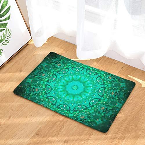 Nunbee Fußmatte Mandala Designe Anti Rutsch Unterlage Wasseraufnahme Teppich Praktische Schmutzfangmatte Haustür Flur Innenbereich Aussen Lustig, Mandala6 50 * 80cm