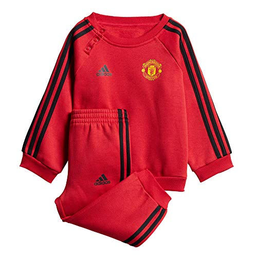 adidas Baby Manchester United 3S Jogginganzug, real Red/Black, 92