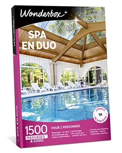 Wonderbox - Coffret cadeau Saint Valentin - SPA EN DUO - 1500 soins bien-être, massages aux huiles essentielles, accès au spa, gommages aux cristaux de sel