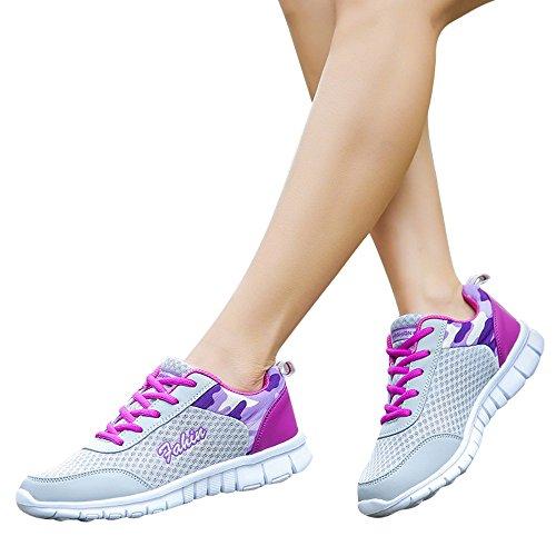 TianWlio Sneaker Damen Mode Schuhe Freizeitschuhe Outdoor Wanderschuhe Flats Schuh Sportschuhe Outdoorschuhe Purple 42
