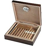 Image of Egoist JK00172 Humidificador Humidor con hygrómetro para puros, habanos o tabacos - 20 cigarros , color marrón