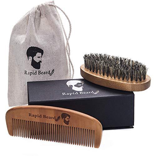 Cepillo Barba Y Peine Barba kit cuidado Para Hombre