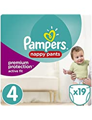 Pampers - Active Fit Pants - Couches-culottes Taille 4 (8-14kg) - Pack Small (x19 couches)