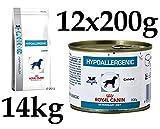 Zoodiscount Royal Canin Hypoallergenic Hund Mega XL Set 14kg Trocken + 12x200g Nass