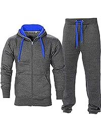 Juicy Trendz Hommes Athletic Long Selves Polaire Zip Complet Gant de  survêtement Jogging Set Vêtements Actifs b58130d886d0