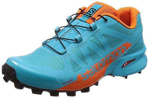 Salomon Speedcross Pro 2 W, Zapatillas de Trail Running para Mujer, Azul (Blue Bird/Scarlet Ibis/Black 000), 36 2/3 EU