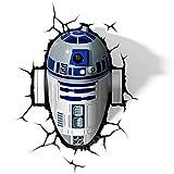 Star Wars R2-D2 3D LED Wandlicht Deko Lampe mit Wandsticker