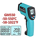 YSCYLY Digital-Thermometer-Pyrometer-Aquarium-Thermometer Im Freien GM550-50 ~ 550C