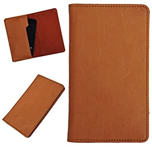DCR Pu Leather case cover for Huawei Ascend P1 LTE (orange)