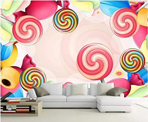 intergrundbild Benutzerdefinierte Original Nordischen Handbemalte Traum Lutscher Kinderzimmer Schlafzimmer WandWandbild-400cmx280cm ()