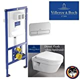 V&B WC Element Vi-Connect + Betätigungsplatte chrom + Architectura WC DirektFlush + WC Sitz Softclose