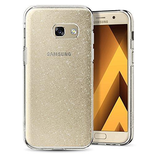 Spigen Samsung Galaxy A3 2017 Hülle [Liquid Crystal] Glitzer-Design Soft Flex Premium TPU Silikon Bumper Style Handyhülle,Ideale Passform Schutzhülle - Crystal Quartz