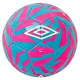 UMBRO Futsal Copa Balón Fútbol, Rosa (Pink GLO) / Azul (Diva Blue) / Blanco, 4