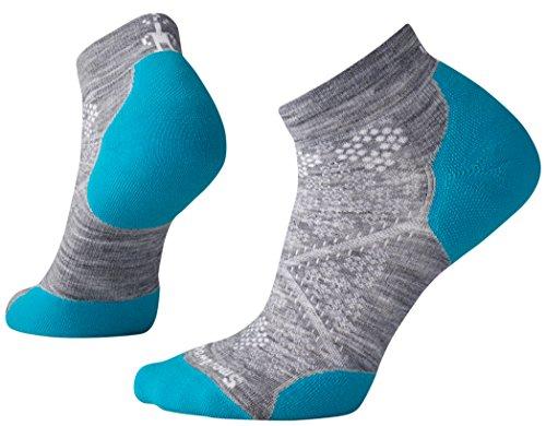 Smartwool Damen PHD Run Light Elite Socken, Grau (Light Gray-Capri Blue), M -